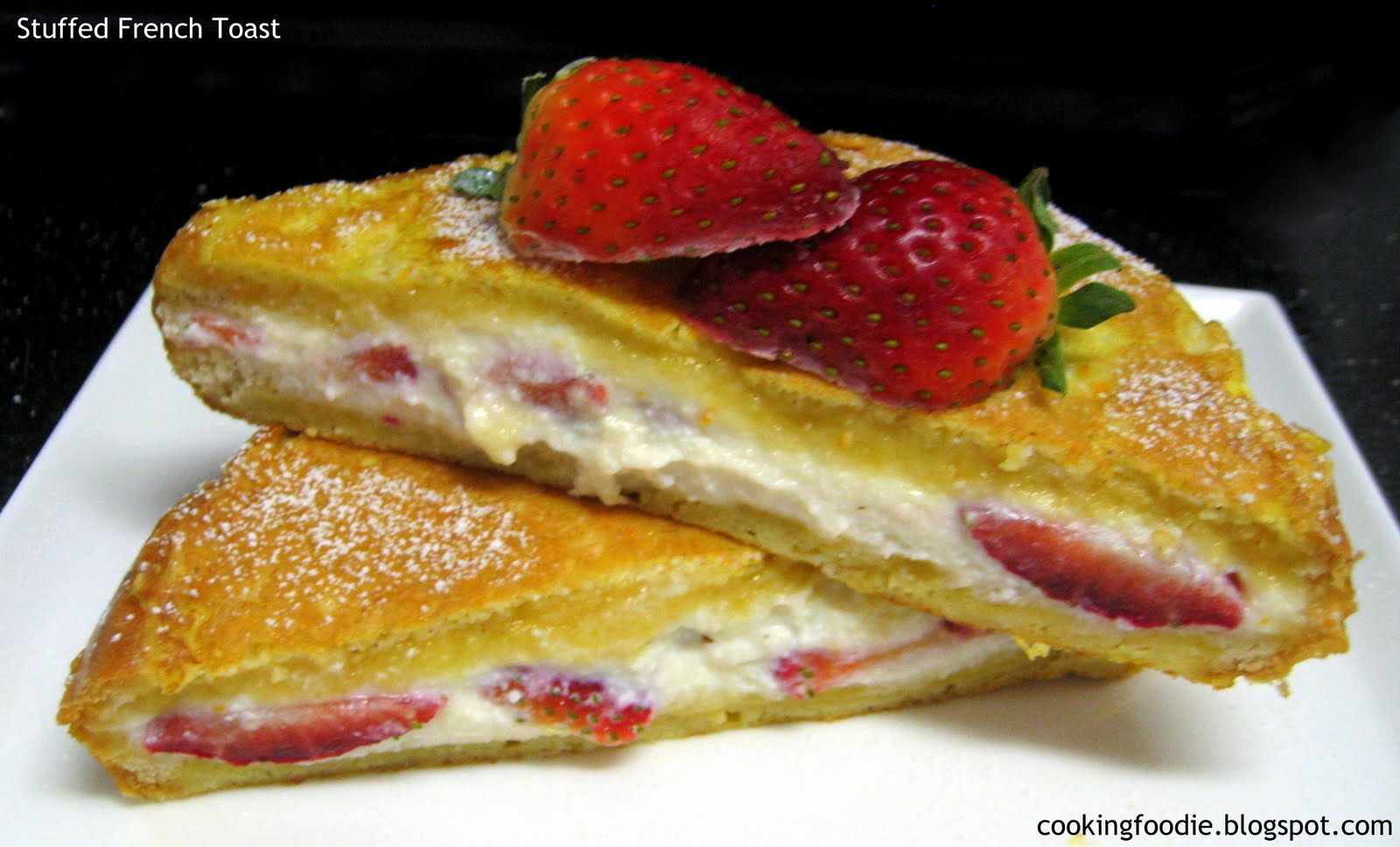 365 days of Eating: Strawberry and Ricotta Stuffed French Toast