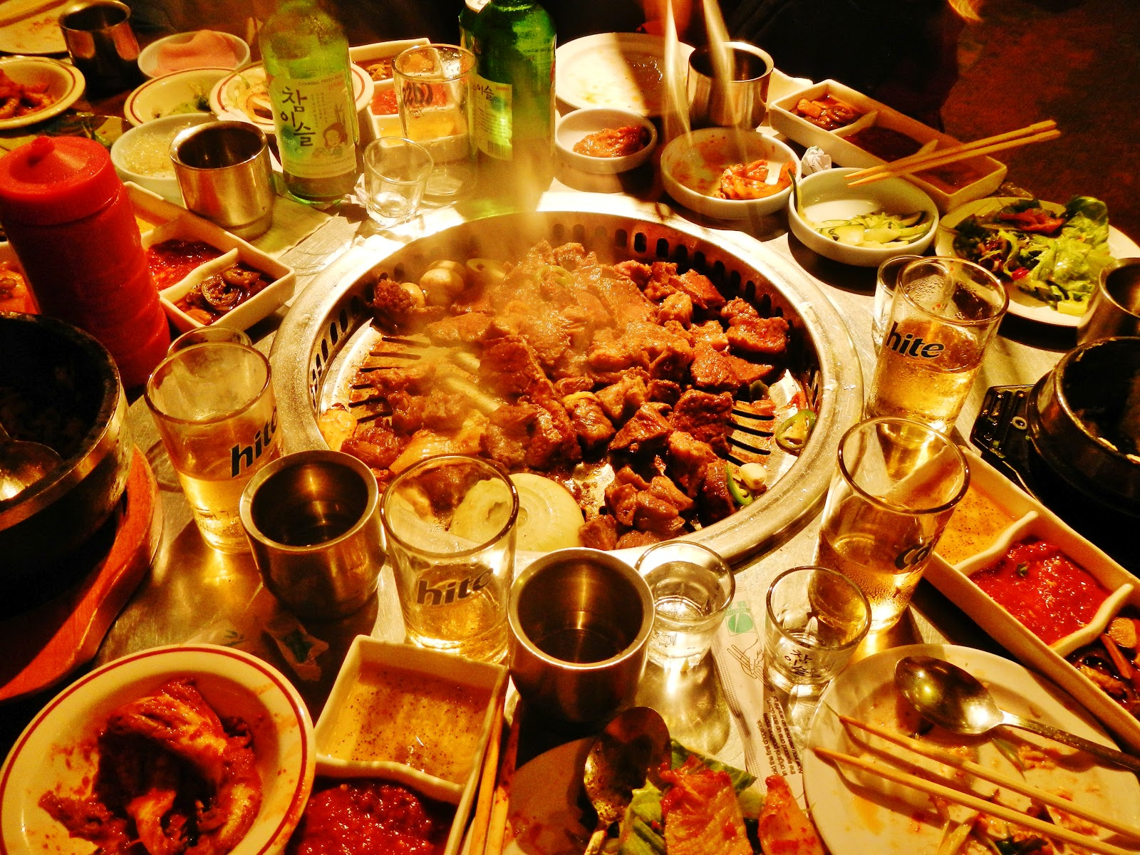 Small modern round table - Seoul Food Girl Mappo Bbq Is The Korean Bbq Restaurant In