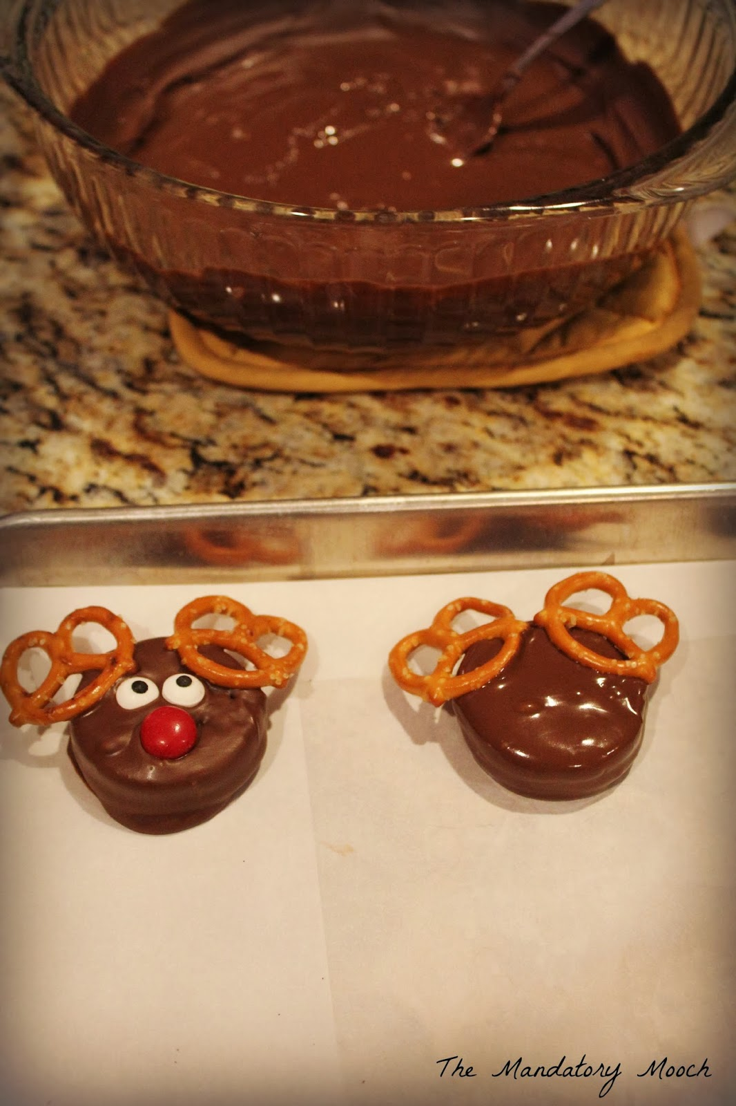 The Mandatory Mooch Dipped Oreo Reindeer Cookies
