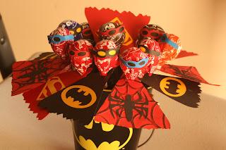 homemade superhero baby shower decorations