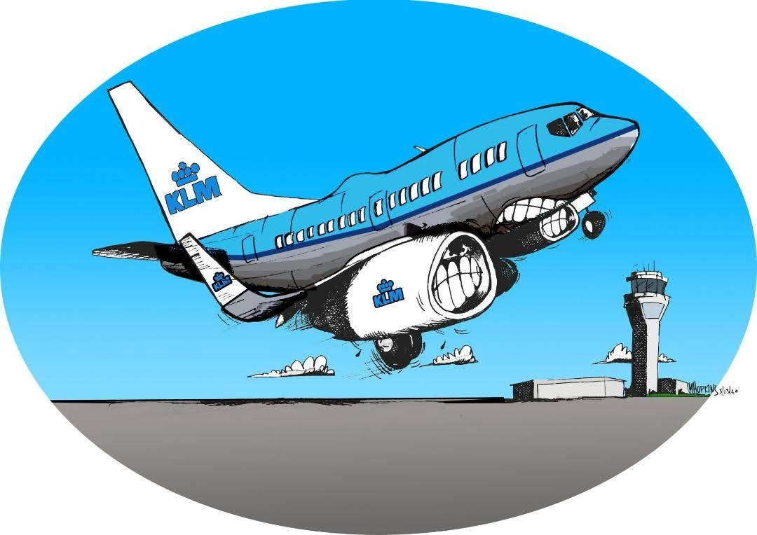 KLM Boeing 737 Aviation Limited Edition Print, Signed by Michael Hopkins on Ebay!