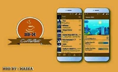 Tampilan BBM Mod Coffe Flat Style v2.8.0.21 APK