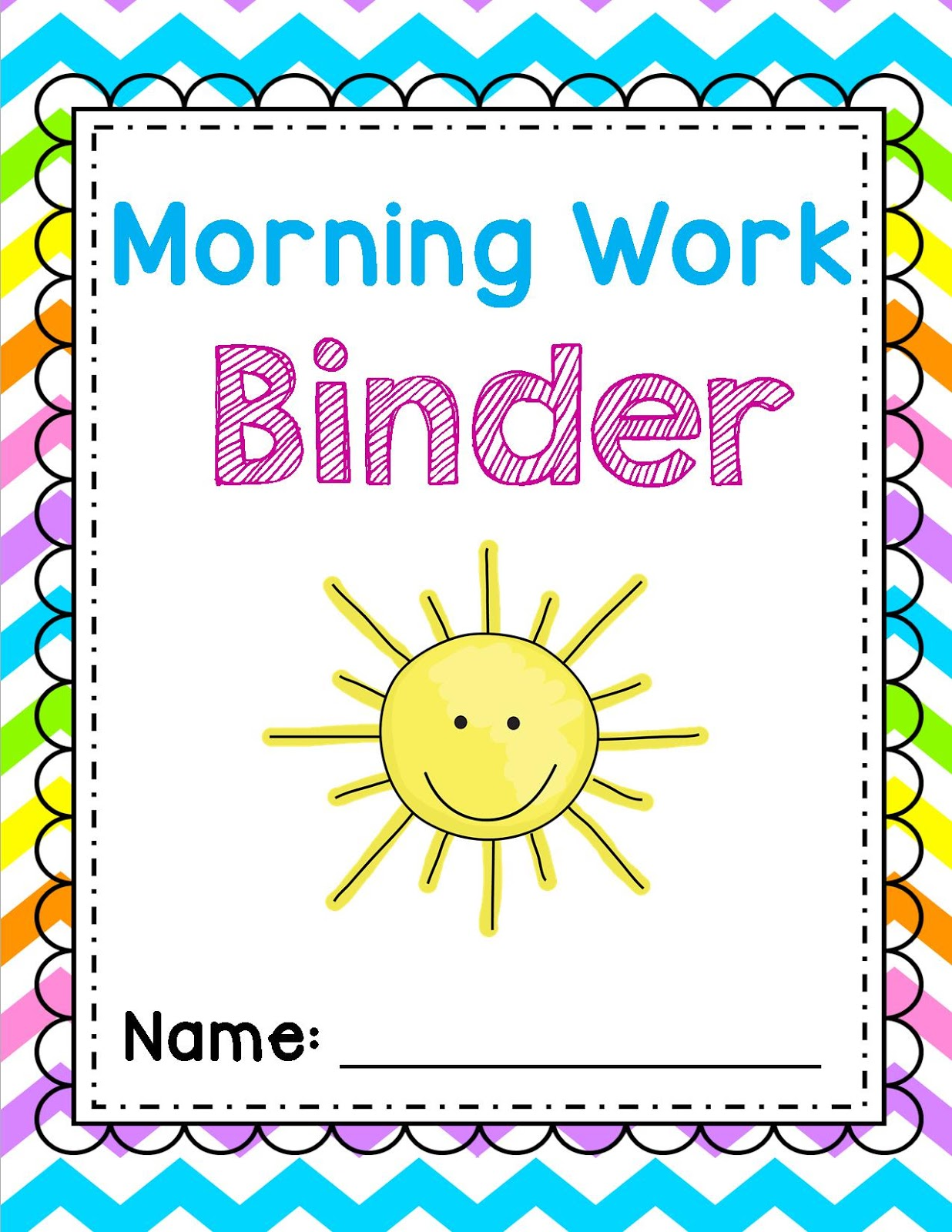 Cover Page For Drawing Book ~ Sweet for kindergarten morning work made easy a friyay