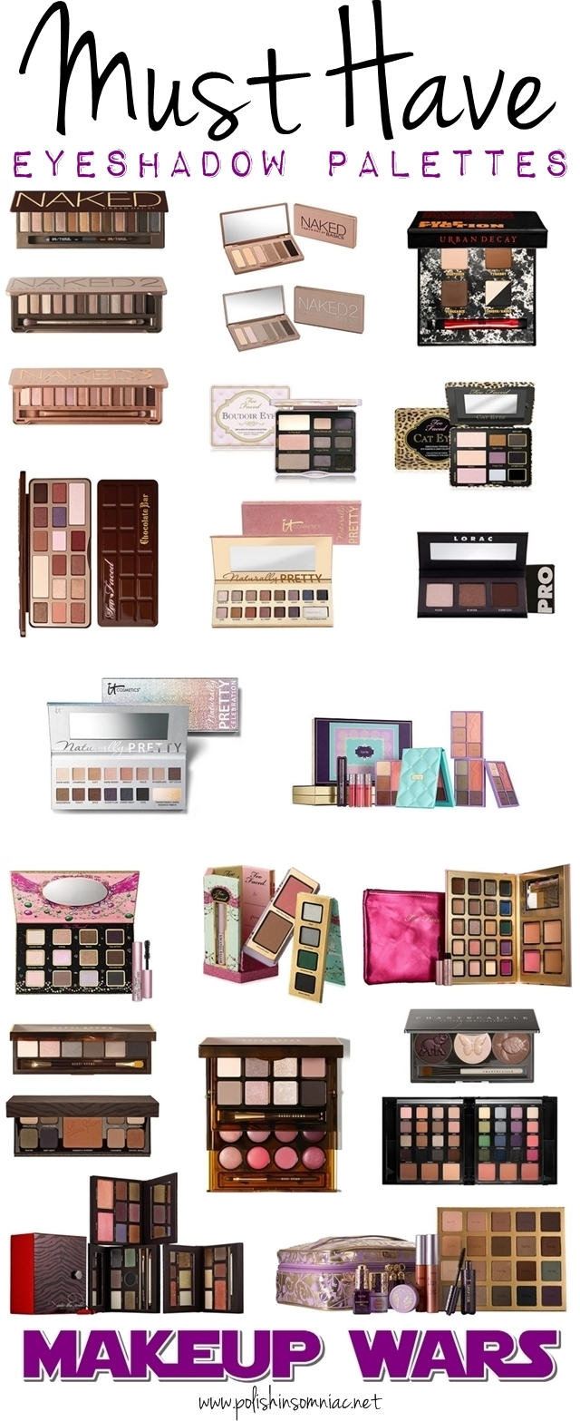 Makeup Wars - polish insomniac's Must Have Eyeshadow Palettes
