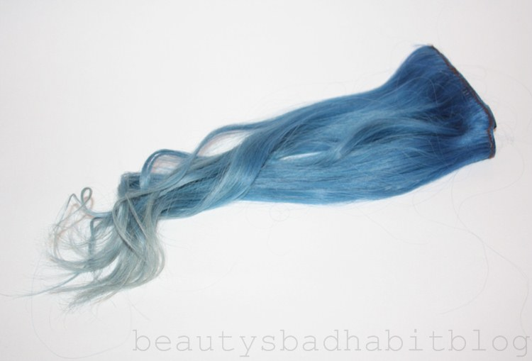Tutorial dying hair extensions beautys bad habit ysee stunning as they are grey toned blues look awful with my skintone and these extensions were veeeery grey blue time to whip out the dye pmusecretfo Images