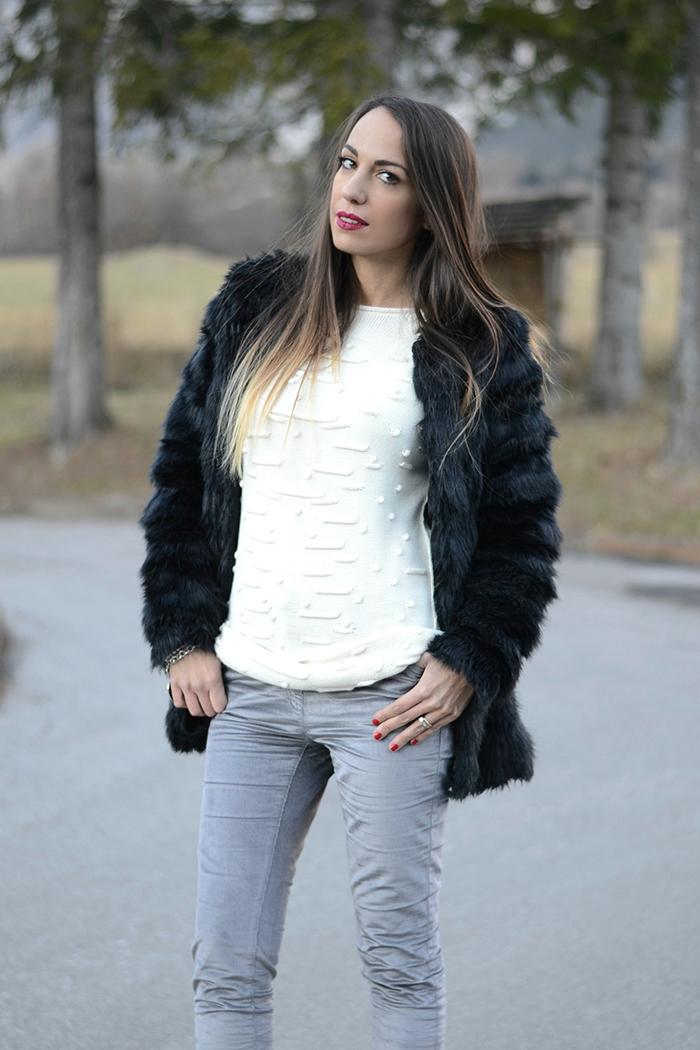 maxi maglione panna