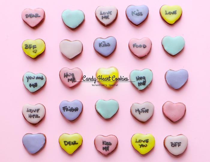 Candy Heart Chocolate Cookies