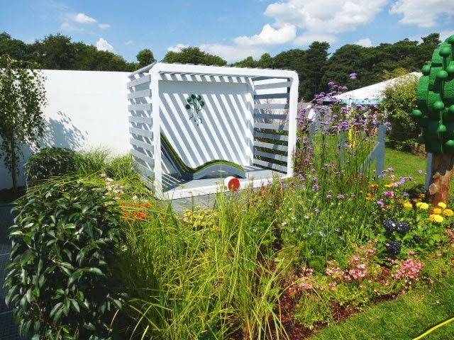 modern sophisticated show garden