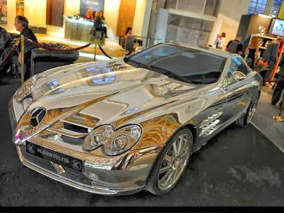Amazing Pic: Pure White Gold Mercedes Benz
