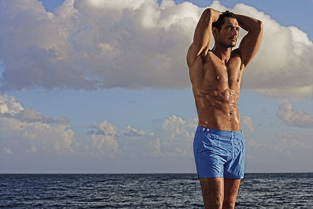 David Gandy strips to swimwear for new Autograph for M&S Campaign