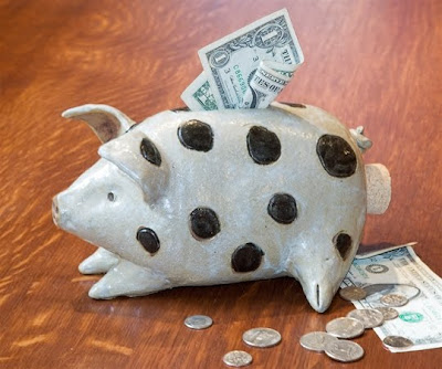 stoneware piggy bank