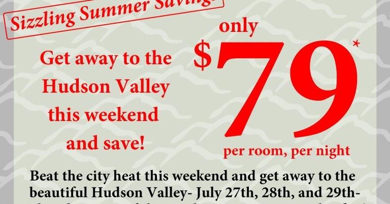 Hudson valley resort spa sizzling summer savings this for Hudson valley weekend getaway