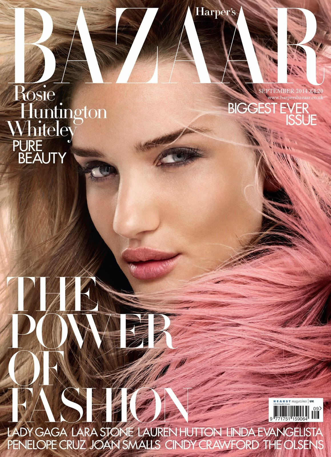 Rosie Huntington Whiteley - Harper's Bazaar Magazine, UK, September 2014