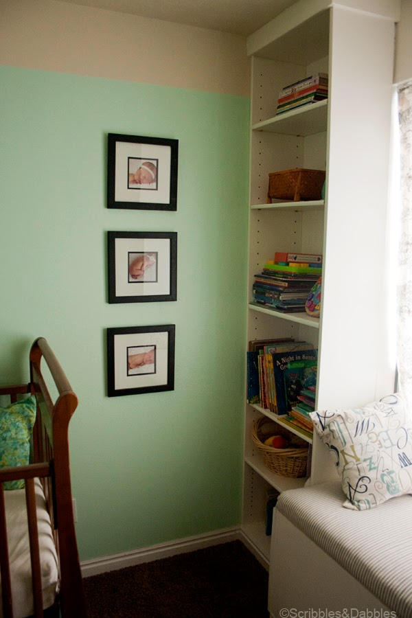 Scribbles&Dabbles: Nursery Makeover -- framed art