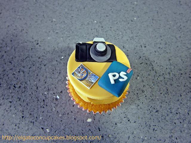 cupcakes cámara de fotos
