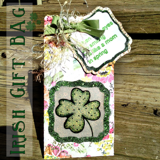 Not Just Paper and Glue, Gift Bag, Silhouette, Lori Whitlock, Irish, St. Patricks Day