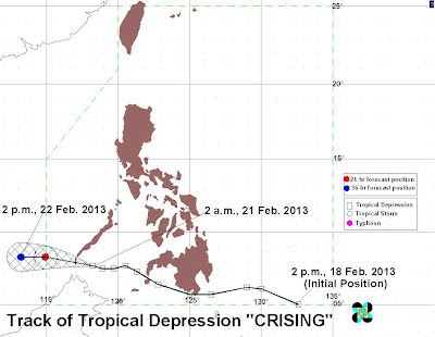 PAGASA LPA Forecast Track - 50% to be Typhoon CRISING : GbSb TEchBlog