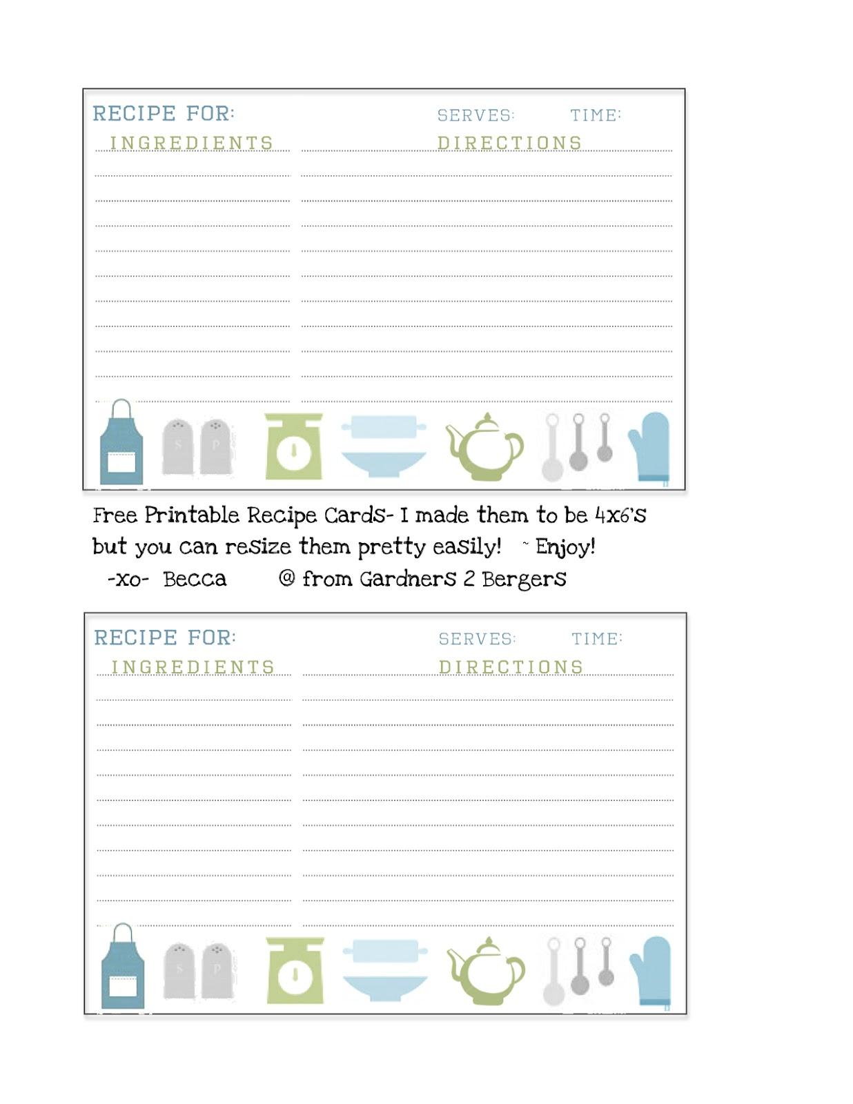 recipe card template google docs