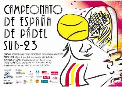 Campeonato España de pádel sub23 2012
