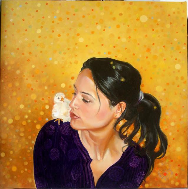 """Portrait de """"Claire et un poussin"""""""