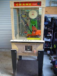 Vintage Arcade Crane Machine
