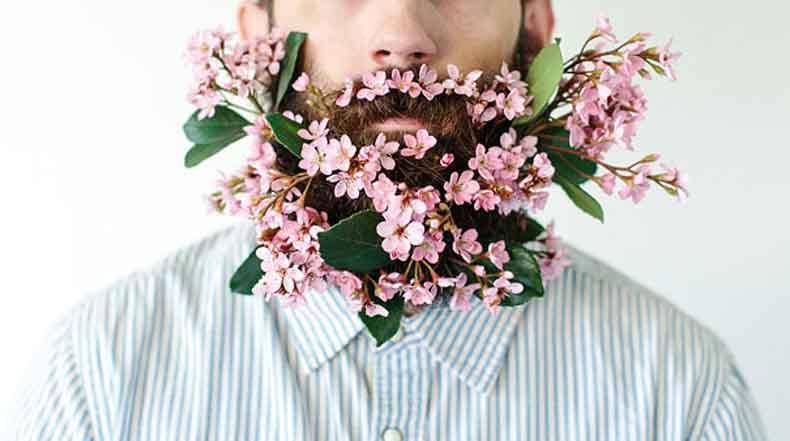 Las barbas con flor son la última tendencia de los inconformistas en internet