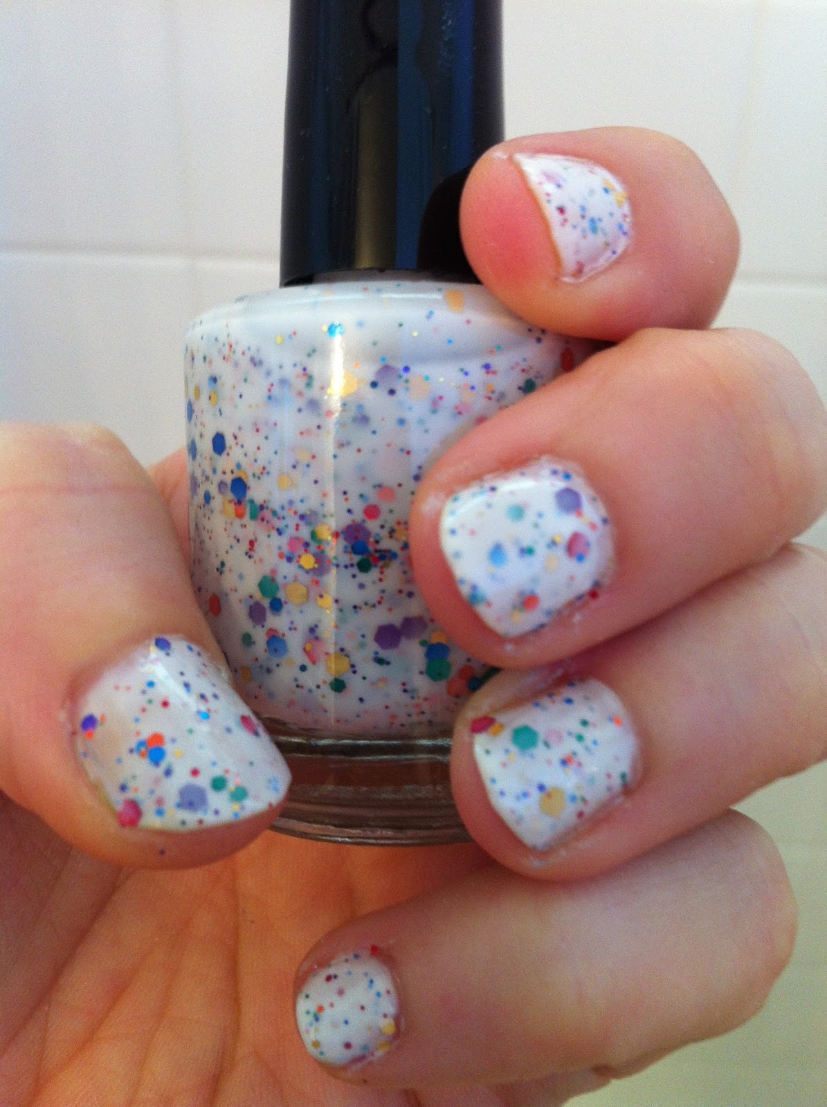 Cat\'s Colorful Claws: KB Shimmer Oh Splat Swatch
