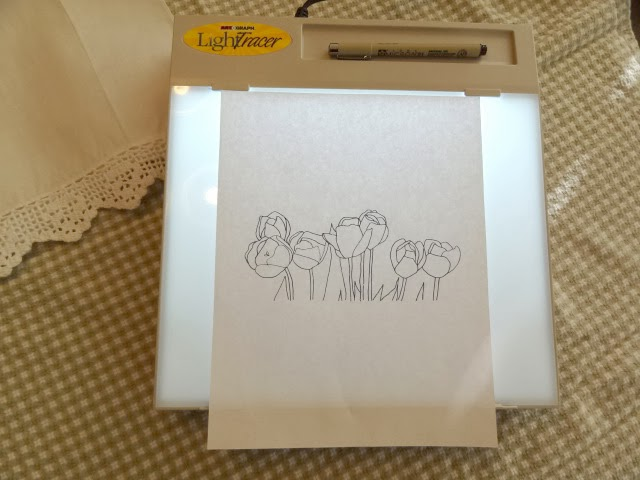 Lightbox Transfer Of Hand Embroidery Patterns