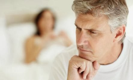 Ask the Loveologist: Our Sex Life Keeps Getting Smaller - sad man bad sex life couple old man