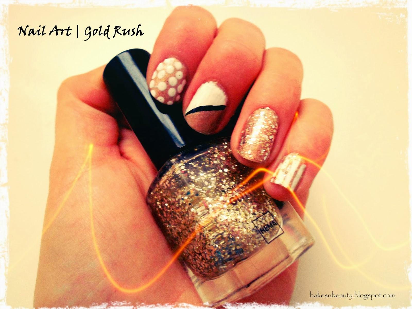 Bakes N Beauty Nail Art Gold Rush