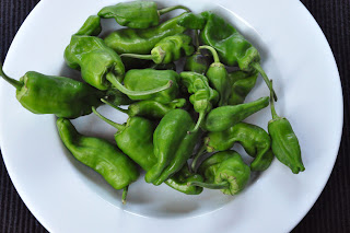Recipe: Grilled padron peppers