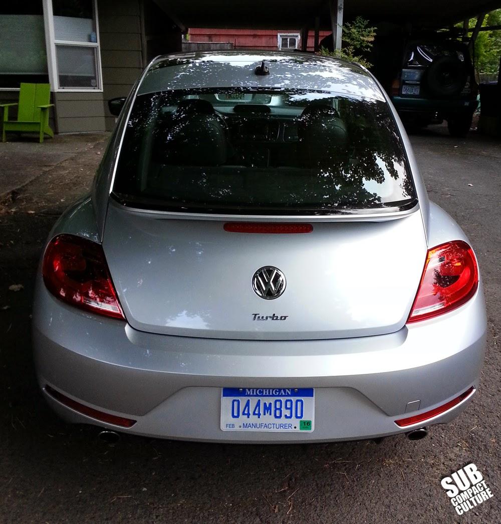 2014 VW Beetle R-Line back