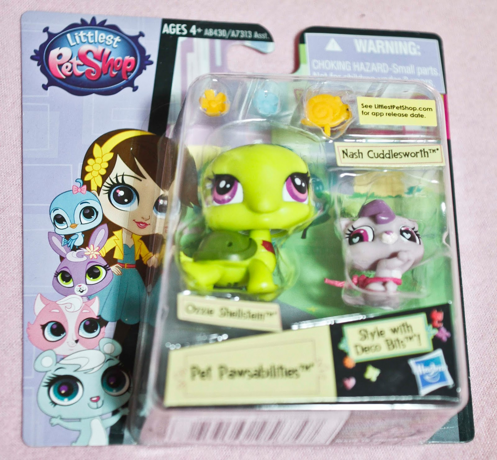 completely unopened package of littlest pets shop pawsabiliteis set including nash cuddles worth and ozzie shellstein