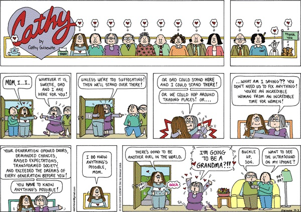 final Cathy comic strip, October 3, 2010