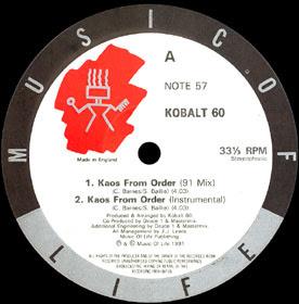 Kobalt 60 – Kaos From Order (1991, 12'', 192)