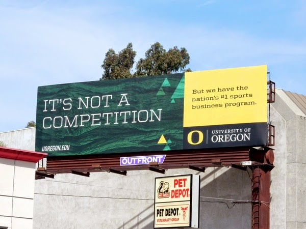 not a competition University Oregon billboard
