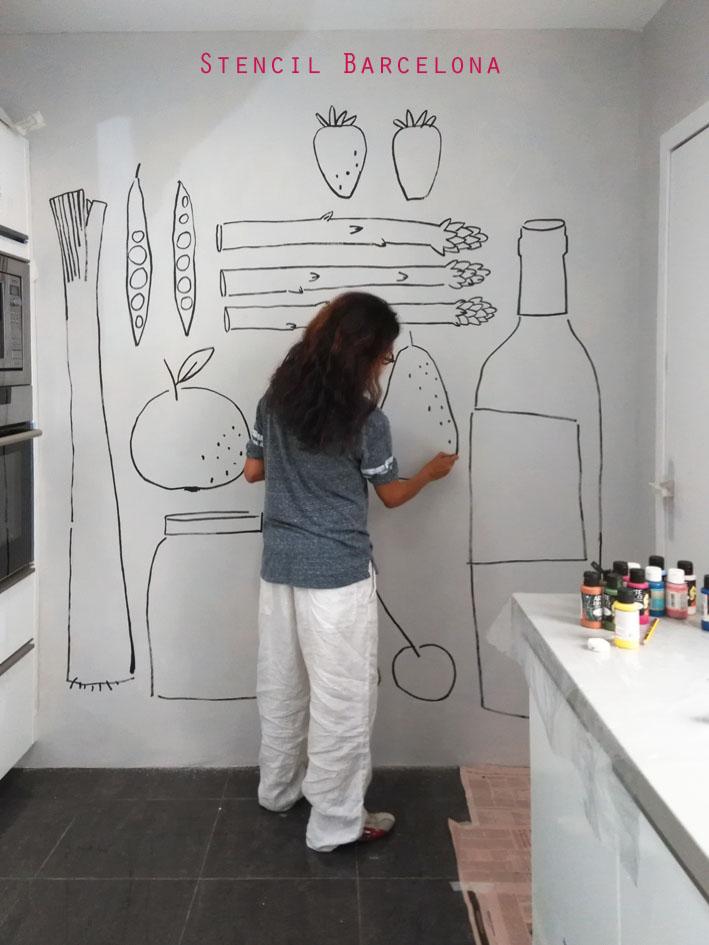 Stencil barcelona - Murales pintados en la pared ...