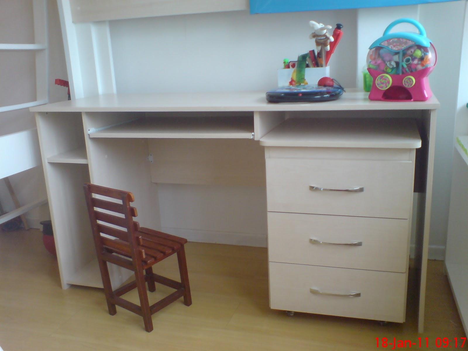 moveis planejados: cama com escrivaninha #2D7A9E 1600x1200