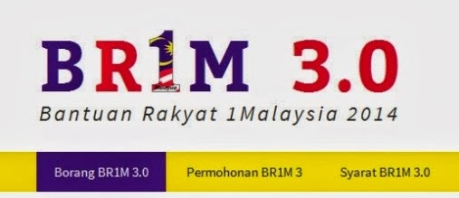 "BR1M 3.0)"" which is also know as 1Malaysia Cash Aid (BR1M 3.0) in"