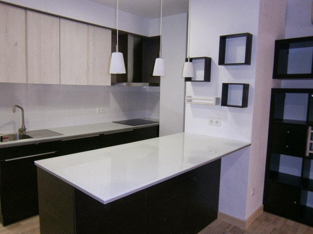 Mueble Isla Para Cocina. Fabulous Cocina Con Muebles En Blanco ...