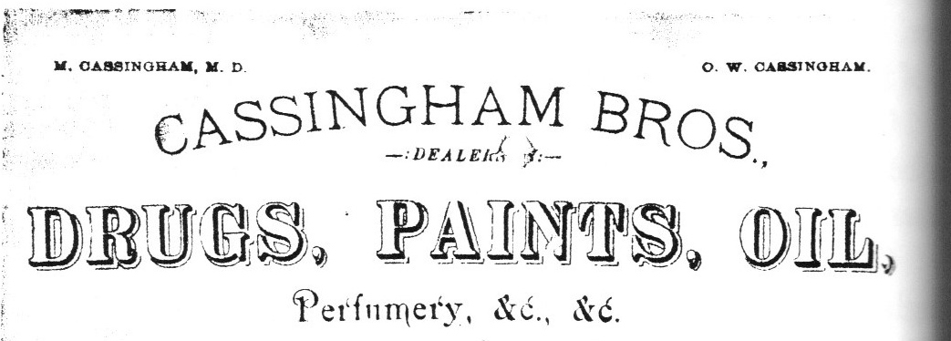 Cassingham Bros.  1882 Letterhead