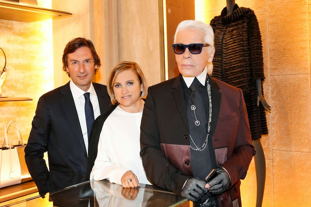 Karl Lagerfeld in Dior Homme - FENDI boutique opening, Munich