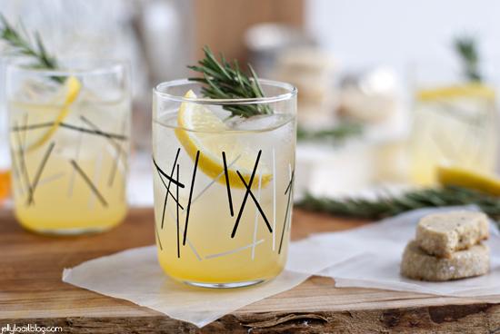 rosemary lemon shortbread + a rosemary citrus spritzer ...