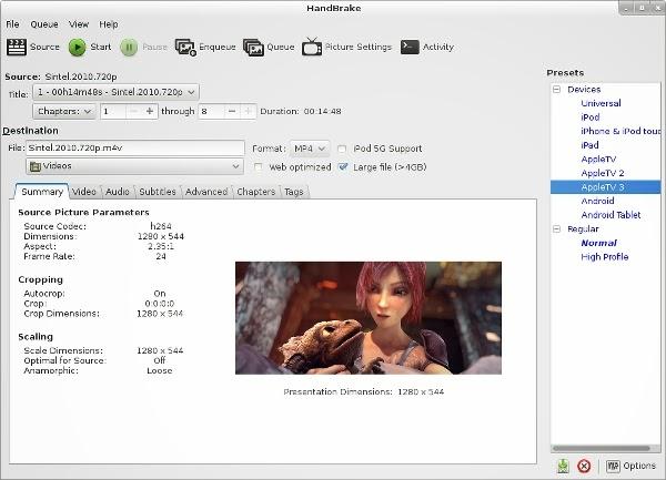 Convierte tus vídeos con HandBrake 0.10.0, transforma tus vídeos con HandBrake 0.10.0, instalar HandBrake 0.10.0 en ubuntu,