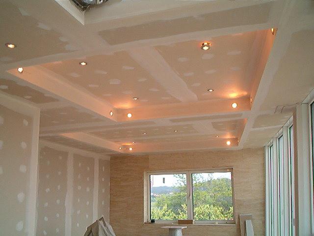 Siland fotos de techos de yeso laminado - Como colocar pladur en techo ...