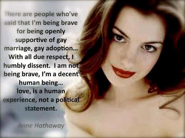 Anne hathaway gay