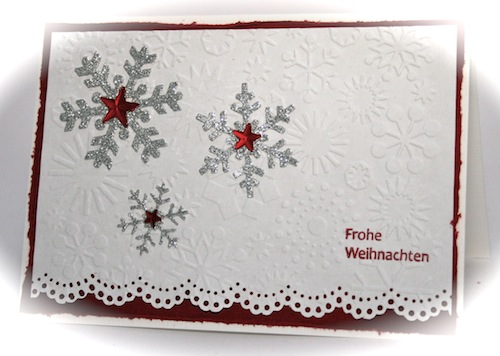 stamping fairies rot weisse weihnachten. Black Bedroom Furniture Sets. Home Design Ideas