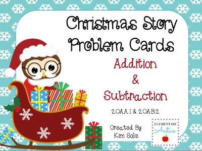 http://www.teacherspayteachers.com/Product/Christmas-Addition-Subtraction-Story-Problem-Cards-FREEBIE-964940
