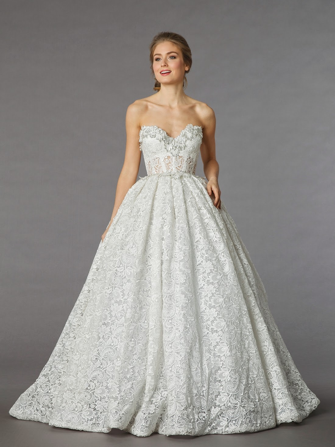 Whimsybride whimsybride faves pnina tornai for Lace wedding dresses with sleeves kleinfelds