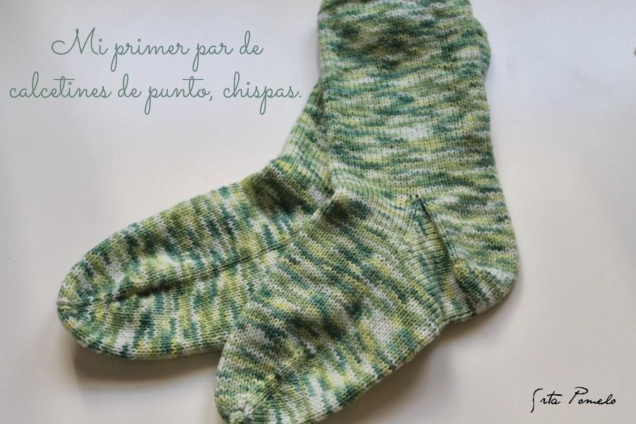 Hacer calcetines de lana - Como hacer talon de calcetines de lana ...